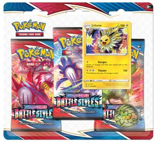 Pokemon Battle Styles 3 Pack Blister W/Coin & Card – Random