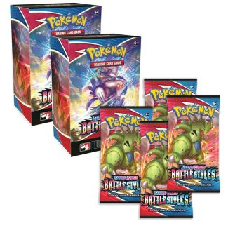 2x Pokemon Battle Styles Build & Battle Pack (w/ 4 Boosters) (Pre-Release 3/6/2021)