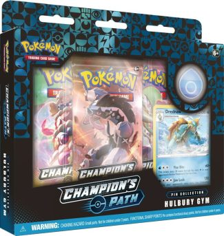 POKEMON CHAMPIONS PATH PIN COLLECTION SET 1: HULBURY GYM