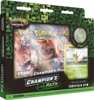 POKEMON CHAMPIONS PATH PIN COLLECTION SET 1: TURFFIELD GYM