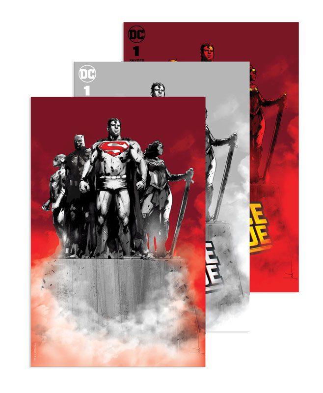 Justice League #1 (Jetpack Comics / Forbidden Planet Jock Exclusive SET - 3 pack)