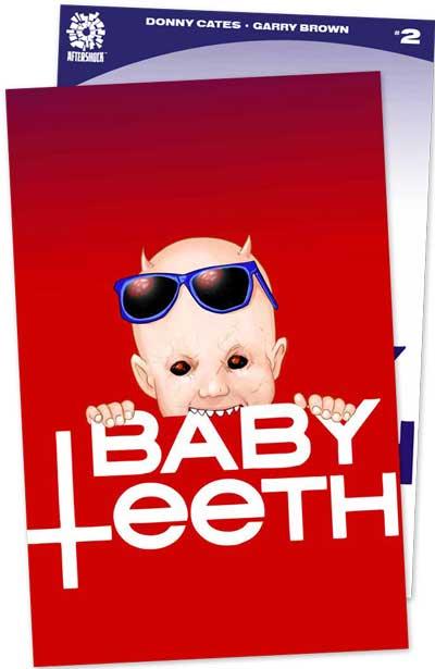 Babyteeth #2 (Jetpack Comics / Forbidden Planet Exclusive) Exclusive Blood Red & Color Cover 2 Pack