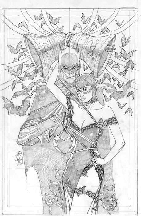 BATMAN #50 (JP / FP BALENT THE WEDDING(?) PARTY VARIANT)