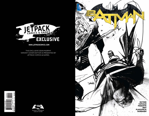 Batman #50 (B/W Forbidden Planet/Jetpack Exclusive)