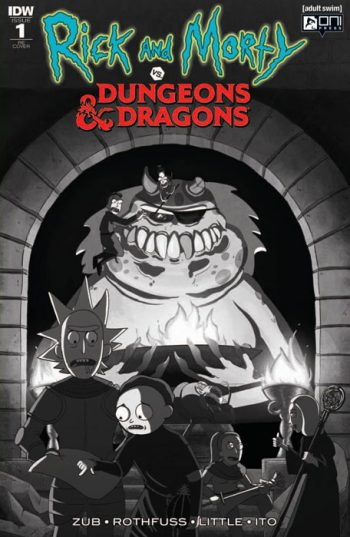 RICK & MORTY VS DUNGEONS & DRAGONS #1 (50 SHADES OF GRAYTONE JETPACK COMICS FORBIDDEN PLANET EXCLUSIVE)