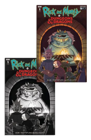 RICK & MORTY VS DUNGEONS & DRAGONS #1 (JETPACK COMICS FORBIDDEN PLANET EXCLUSIVE PAIR)