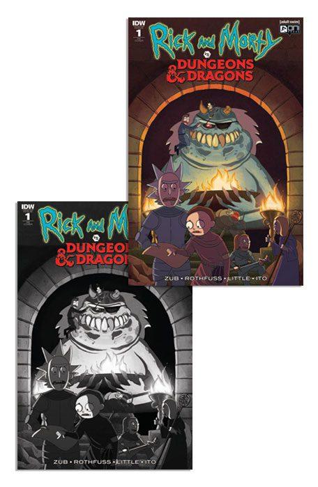 RICK & MORTY VS DUNGEONS & DRAGONS #1 (JETPACK COMICS FORBIDDEN PLANET EXCLUSIVE PAIR)