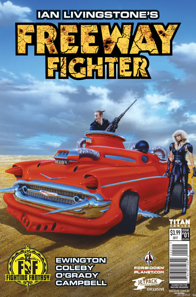 Freeway Fighter #1 (Jetpack/Forbidden Planet Variants)