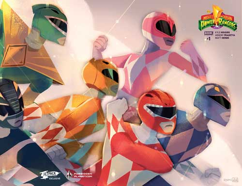 Power Rangers #1 (Jetpack / Forbidden Planet Variant)