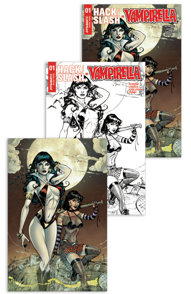 Hack Slash Vampirella #1 (Mike Dooney 3xpack Jetpack Comics / Forbidden Planet Exclusive)