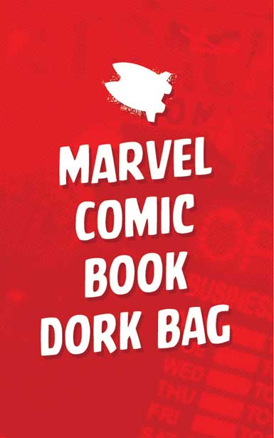 MARVEL COMIC BOOK DORK BAG