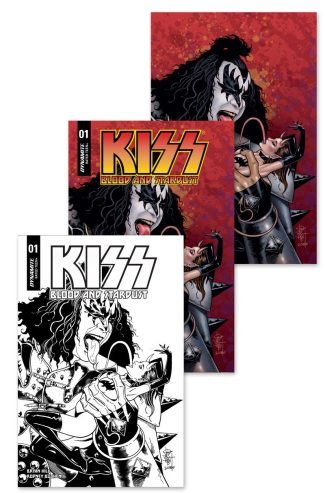 KISS BLOOD AND STARDUST #1 (Jetpack Comics / Forbidden Planet Shared Exclusive 3-Pack)
