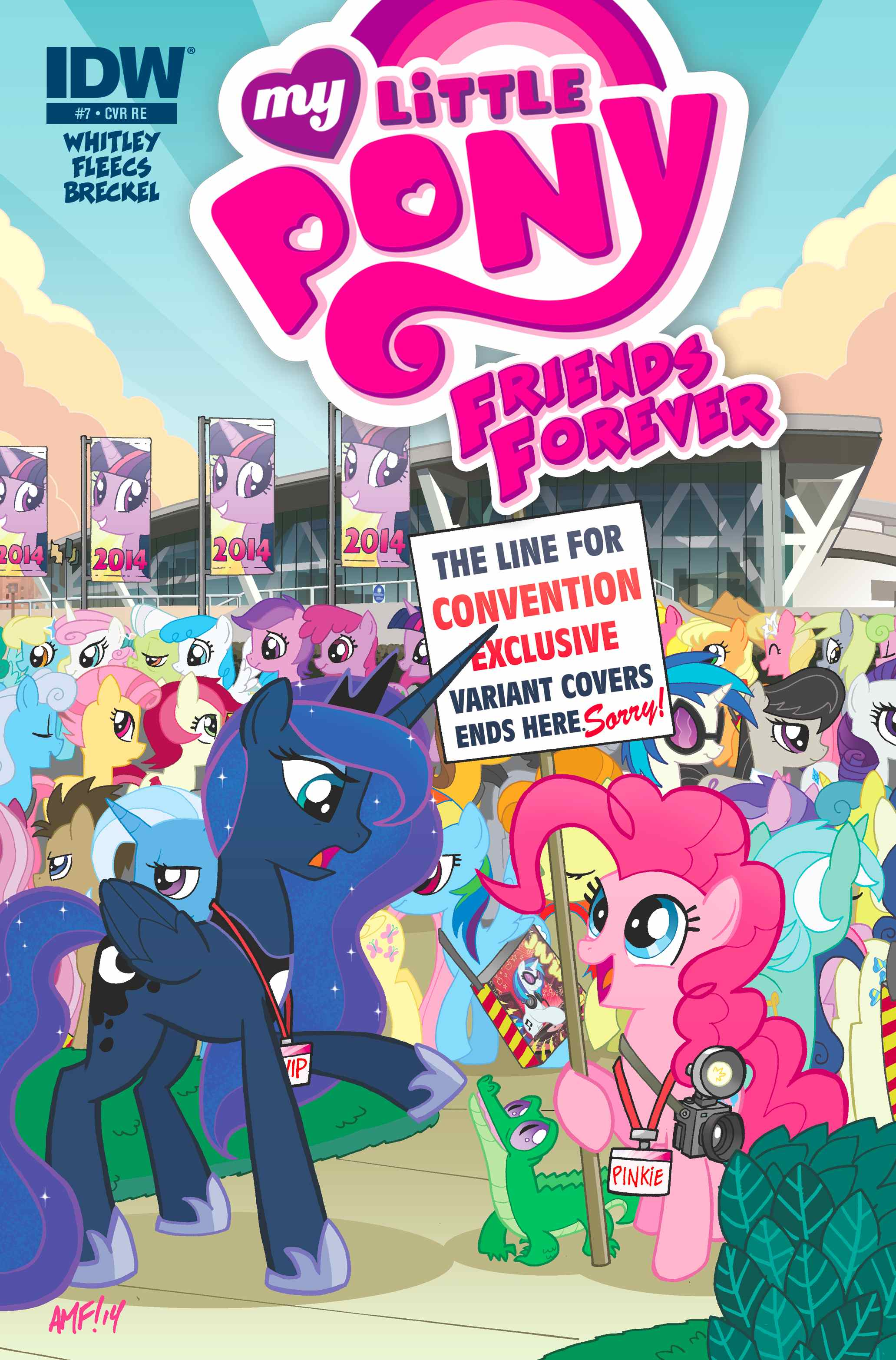 My Little Pony Friends Forever #7 (OFFICIAL BRONY CON EDITION - Limited Edition Color Cover)