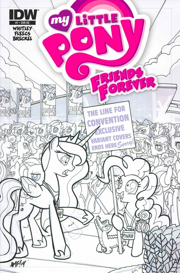 My Little Pony Friends Forever #7 (OFFICIAL BRONY CON EDITION - Limited Edition Micro Print Cover)