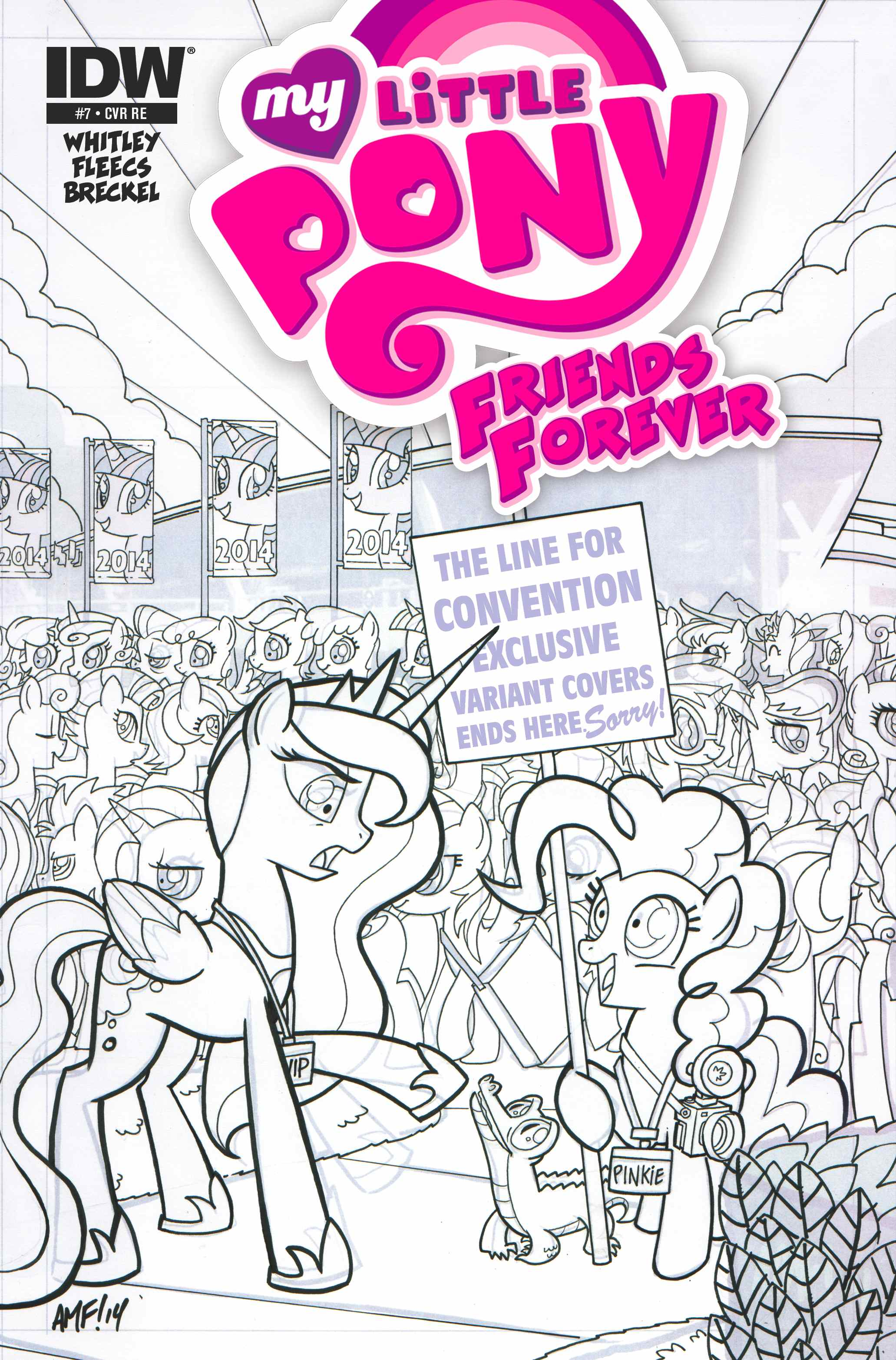 My Little Pony Friends Forever #7 (OFFICIAL BRONY CON EDITION – Limited Edition Micro Print Cover)