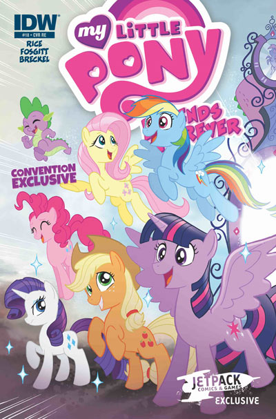 MY LITTLE PONY FF #18 (JETPACK CONVENTION VARIANT)