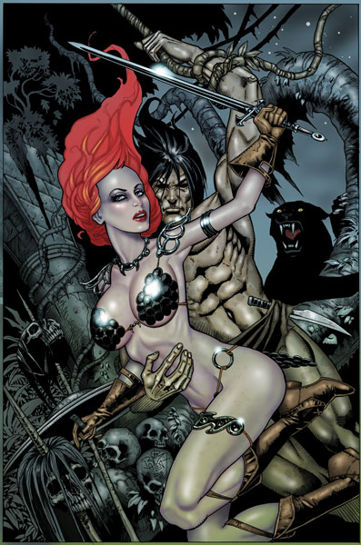 Red Sonja / Tarzan (Jetpack Comics JIM BALENT Virgin Exclusive)