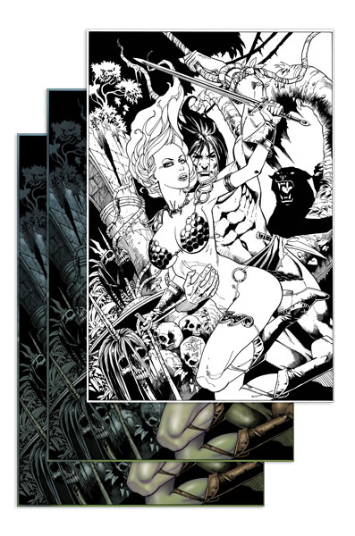 Red Sonja / Tarzan 3-pack (Jetpack Comics JIM BALENT Exclusives)