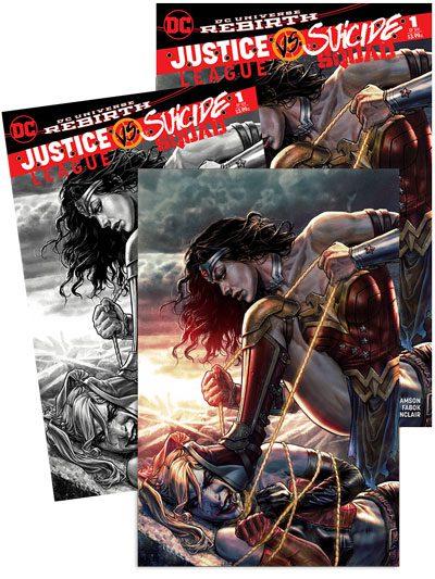 Justice League / Suicide Squad #1 3-Pack (Jetpack Comics / Forbidden Planet Exclusive)