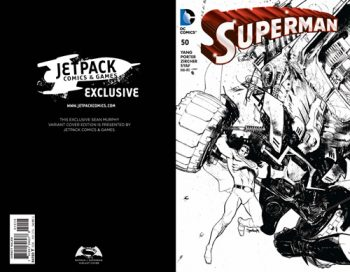 Superman #50 (B/W Forbidden Planet/Jetpack Exclusive)
