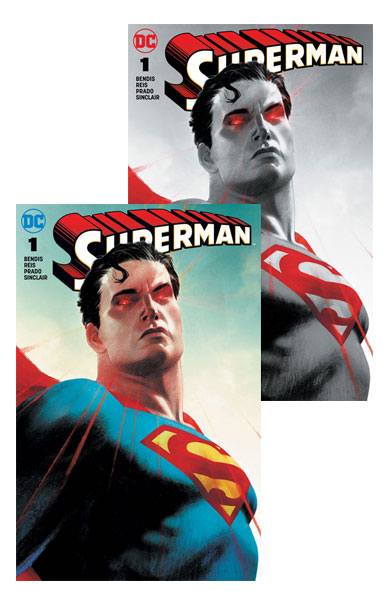 Superman #1 (A B Forbidden Planet Jetpack Comics Josh Middleton Exclusive)