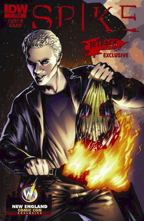 "THE JETPACK COMICS SPIKE #1 LIMITED EDITION WIZARD WORLD NEW ENGLAND ""TWILIGHT BURN"" Variant!"