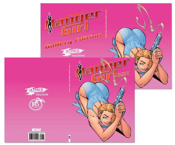 Danger Girl Gallery Edition Jetpack Kris Exclusive SET