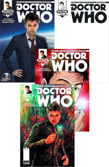 Doctor Who 10th Doctor #1 X4 (Reg, Sub, Blank & Phantom )