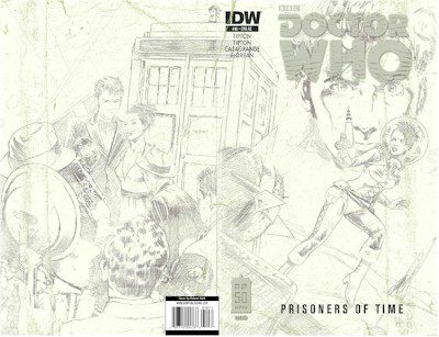 Doctor Who Prisoners of Time #10 Wrap Roughs Edition