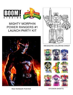 Power Rangers Launch Party Kit