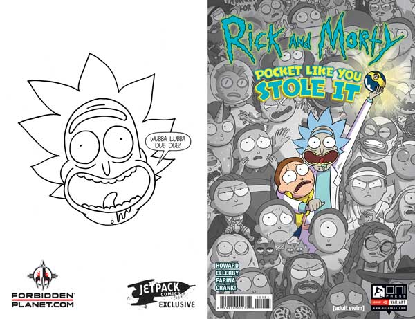 RICK & MORTY - Pocket like you stole it #1 (Jetpack/ Forbidden Planet Exclusive)