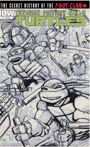 TMNT History Of The Foot Clan #1 Jetpack Exclusive SKETCH