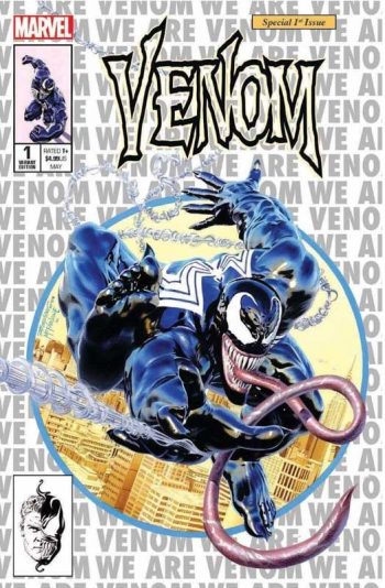 Venom #1 (Mike Mayhew Spiderman #300 Homage)
