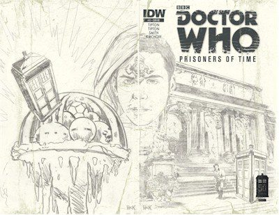 Doctor Who Prisoners of Time #11 Wrap Roughs Edition