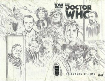 Doctor Who Prisoners Of Time #12 Wrap Roughs Edition