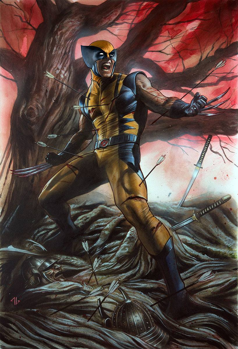 Return Of Wolverine 1 Cover C Blue And Yellow Virgin 1000 Printed