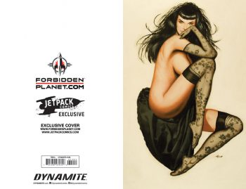 BETTIE PAGE Vol 2 #1(Ron Lesser Jetpack Comics / Forbidden Planet Exclusive Pair)