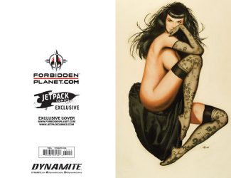BETTIE PAGE Vol 2 #1(Ron Lesser Jetpack Comics / Forbidden Planet Virgin Exclusive)