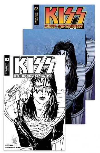 KISS BLOOD AND STARDUST #3 3-Pack (Jetpack Comics / Forbidden Planet Exclusive)