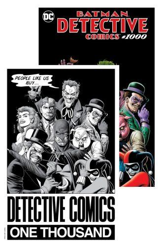 DETECTIVE COMICS #1000 (Brian Bolland Forbidden Planet Color & B/W Exclusive Set)
