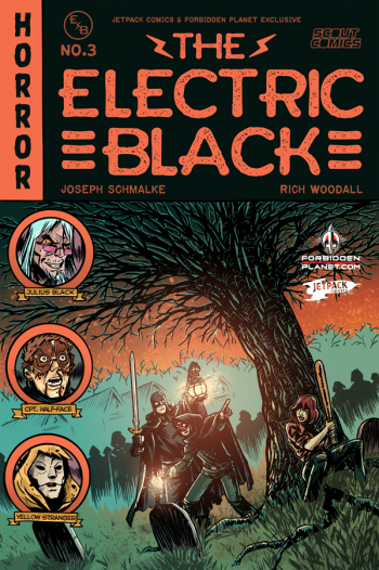ELECTRIC BLACK #3 (Rich Woodall Jetpack Comics / Forbidden Planet Exclusive)