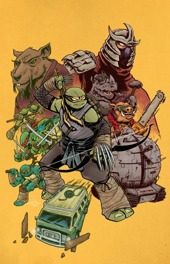 TMNT #100 (RICH WOODALL JETPACK COMICS / FORBIDDEN PLANET EXCLUSIVE)