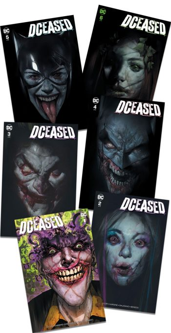 "DCEASED #1-6 ""A"" Cover Set (Ben Oliver Jetpack Comics / Forbidden Planet Exclusives)"
