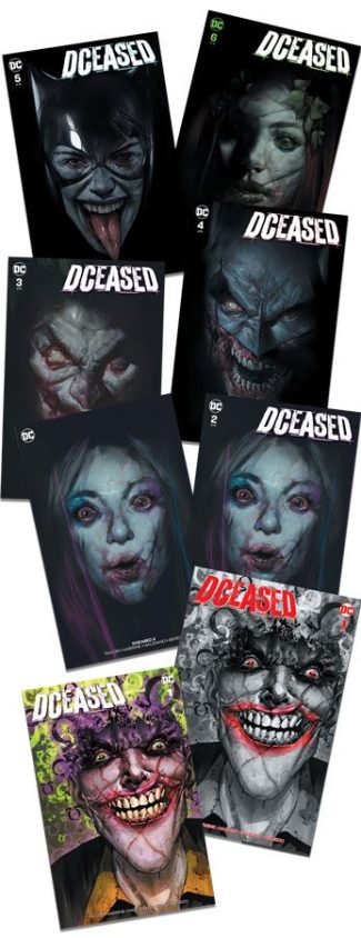 DCEASED #1-6 Complete Set (Ben Oliver Jetpack Comics / Forbidden Planet Exclusives)