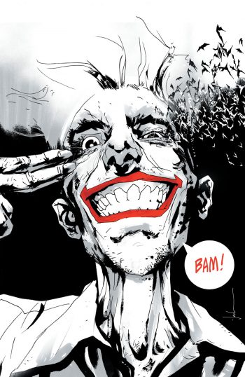 JOKER YEAR OF THE VILLAIN (JOCK JETPACK COMICS B/W EXCLUSIVE)