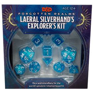 Laerel Silverhands Explorer Kit (Dice Set And Miscellany)