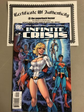 Infinite Crisis #2 Signed By Phil Jimenez (With Certificate Of Authenticity)