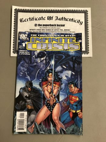 Infinite Crisis #1 Signed By Phil Jimenez (With Certificate Of Authenticity)