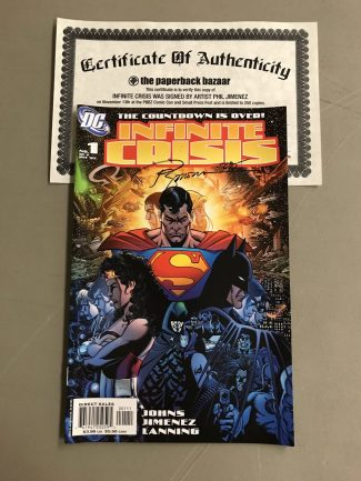 Infinite Crisis #1 Perez Variant Signed By Phil Jimenez (With Certificate Of Authenticity)