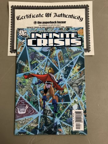 Infinite Crisis #2 Perez Variant Signed By Phil Jimenez (With Certificate Of Authenticity)